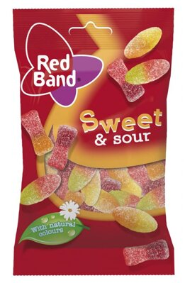 RED BAND 100g sour&sweet cukríky
