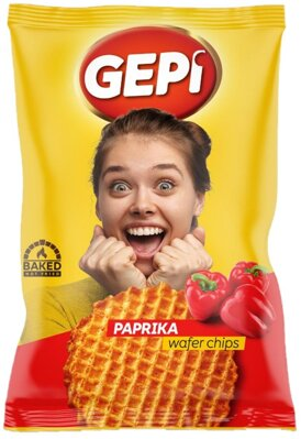 GEPI WAFER CHIPS 65g paprikové