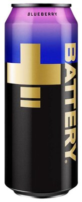 BATTERY ENERGY DRINK 500ml blueberry