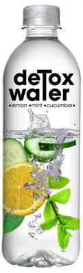 DETOX WATER 500ml uhorka/citrón/mint