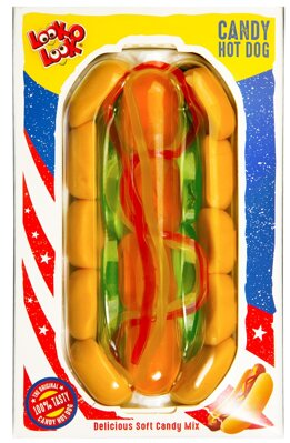LOOKoLOOK HOT DOG 100g želé cukrovinka