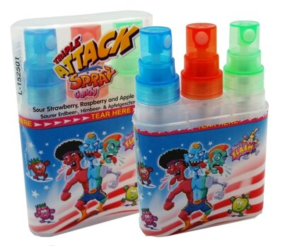 TRIPLE ATTACK SPRAY 40ml tekutá cukrovinka