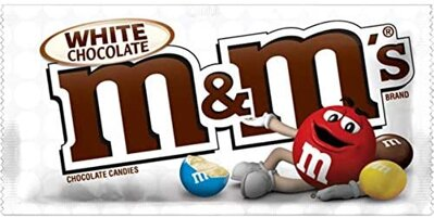 M&M's WHITE CHOCOLATES 42,5g v bielej čokoláde