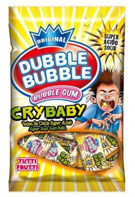 DUBBLE BUBBLE CRY BABY 85g superkyslé žuvačky