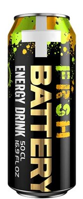 BATTERY ENERGY DRINK 500ml fresh