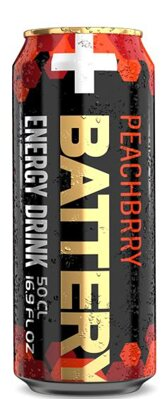 BATTERY ENERGY DRINK 500ml peachbrry
