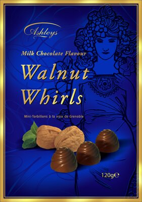 WALKERS WALNUT WHIRLS 120g orieškový dezert