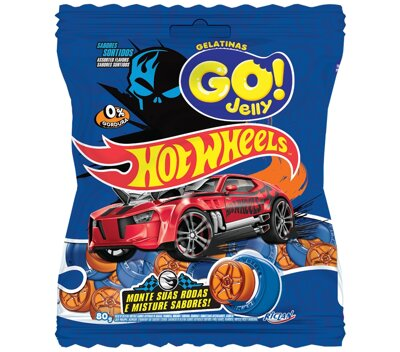 HOT WHEELS JELLY GO! 80g želé cukríky