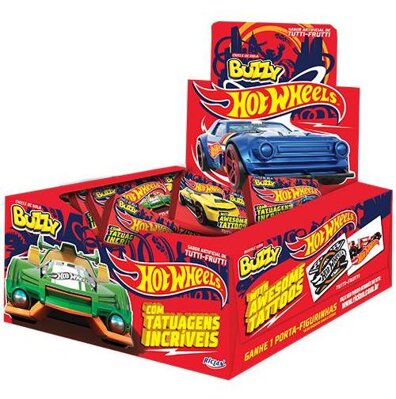 HOT WHEELS RED 400g ovocné žuvačky (cena za display/100ks)