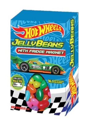 HOT WHEELS JELLY BEANS 28g cukríky+krabička