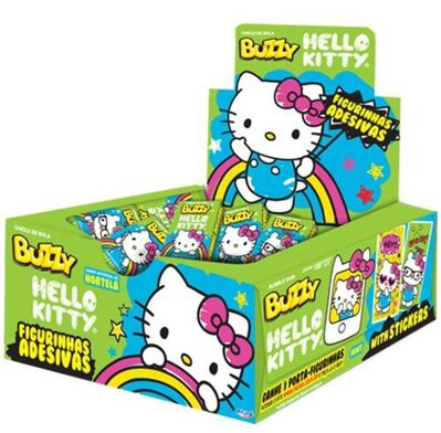 HELLO KITTY GREEN 400g mentolové žuvačky (cena za display/100ks)