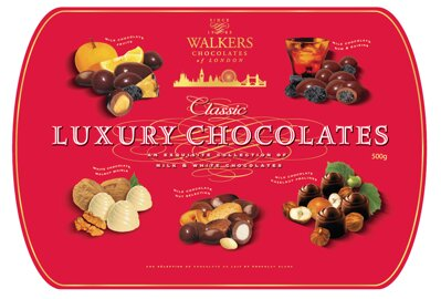 WALKERS LUXURY 500g mix bonbónov  (plech)