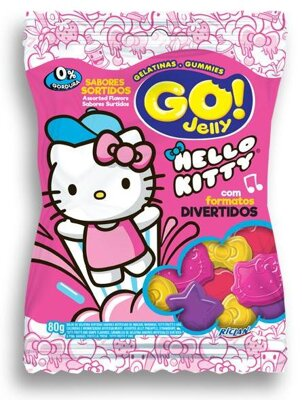 HELLO KITTY JELLY GO! 80g želé cukríky